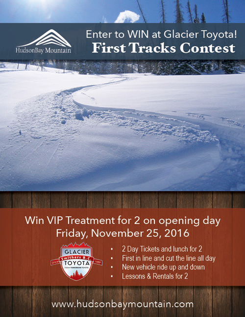 Fresh Tracks Contest at Hudson Bay Mountain